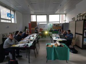 Les stagiaires du DAFFE écoutant la formation informatique assurée par Sylvain Ravot.