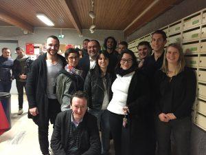 Gwendoline Caron entourée des membres de sa promotion engagés avec l'OL, le LOU Rugby, et bien d'autres clubs sportifs de haut niveau !